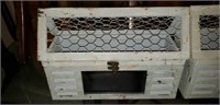 Pair of decor boxes with chicken wire