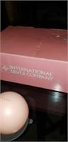 International silver company set of 3 ball candle