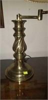 Brass bottom lamp working with shade
