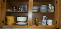Entire contents of kitchen cabinet