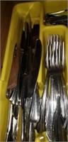 Kitchen drawer of silverware