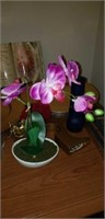 Charger, crystal vase and more