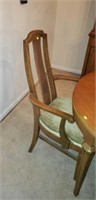 Mid century modern table with 6 chairs
