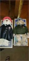 Pair of Texaco bears, Fire chief and Tex