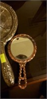 Estate lot of 2 hand held mirrors