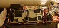 Estate lot of different wallets, a flashlight, etc