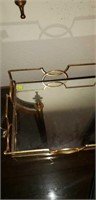 Beautiful tray with a mirror bottom