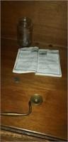Beautiful wood nightstand plus contents