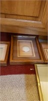 Estate lot of a picture, and two framed seashells