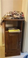 Estate lot of a small cabinet, phonebook, etc.