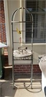 Beautiful small outside rack with wind chimes