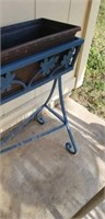 Blue plant stand