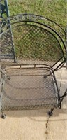 Set of outdoor iron chairs