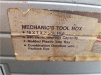 Sears Craftsman Silver Toolbox Full of Tools