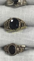 12 Semiprecious Rings Marked Sterling Size 6