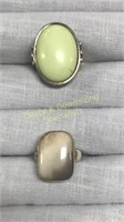 12 Semiprecious Rings Marked Sterling Size 7