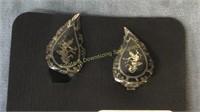 Set of Siam Sterling Bracelet Necklace & Clips