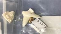 Plethora of Carved Ivory & Coral Fetishes