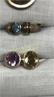 12 Rings Size 7 Various Stones & Shapes