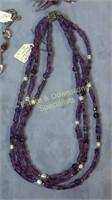 4 Piece Necklace Bracelet Sterling Amethyst + More