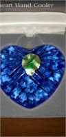 Waterford crystal heart hand cooler in box