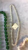 8 Piece Glass Bead Necklace and Bracelet Lot