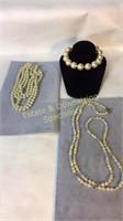 3 Piece Faux Pearl Necklaces