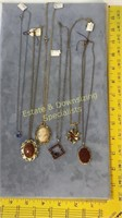 6 Piece Goldstone Garnet and Other Jewelry