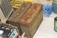 2 Metal Ammo Boxes