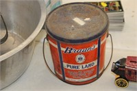 Vintage Brauns Lard Can