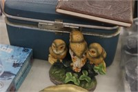 Vintage Samsonite Makeup Case ,Owl Decor,etc