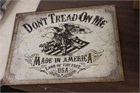 Metal Dont Tread on Me Sign