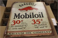 Metal Mobiloil Sign
