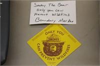 Smokey the Bear Boundary Marker