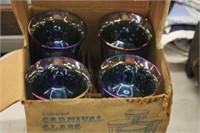 Lot of 4 Carnival Goblets