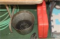 Metal Bucket & Empty tool Case