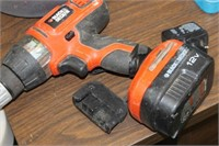 B&D Cordless Drill with Charger,Works