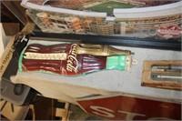 2 Vintage Coca Cola Thermometers, No Tubes