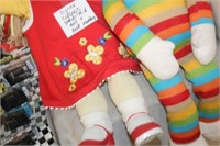 Signed Cabbage Patch Doll & Sock Monkey
