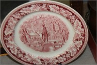 Homer Laughlin Currier & Ives Plate with Stand