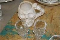 Skull Mug & Shot Glasses