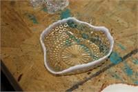 Moonstone Glass Hobnail Dish
