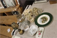 Lot of Misc Glassware,Oil Lamp,etc