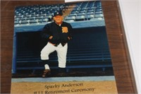Sparky Anderson Retirement Ceremony Picture