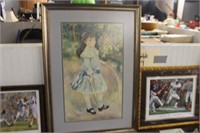 Framed Girl Print