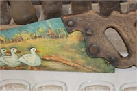 Vintage Hand Painted Saw