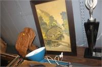 Adjustable Lamp & Framed Print