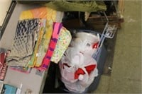 Lot of Scarves & Christmas Decor