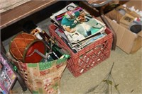 Crate of Vintage Sports Illustrated Magazines
