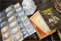 Lot of Cookbooks & Molds